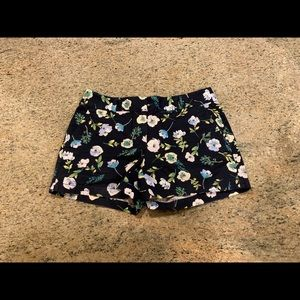 Floral Ann Taylor Loft Shorts with Beading